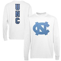 North Carolina Tar Heels (UNC) Distinctive Edge Long Sleeve T-Shirt - White
