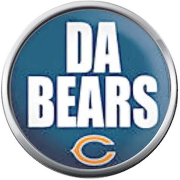 Chicago Da Bears NFL Football Lovers Team Spirit For The Love Of The Game 18MM - 20MM Snap Jewelry Charm