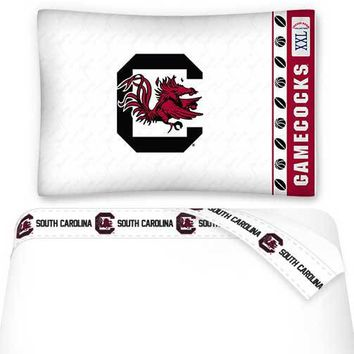 NCAA South Carolina Gamecocks Bed Sheets Set College Bedding