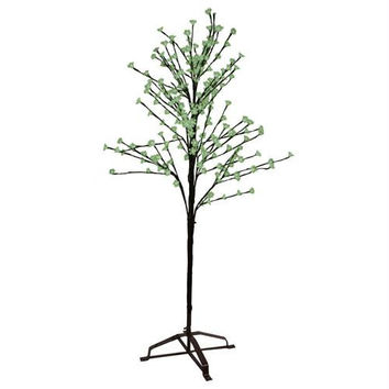 Cherry Blossom Tree - 240 Led Warm White Micro Lights In Green Flowers