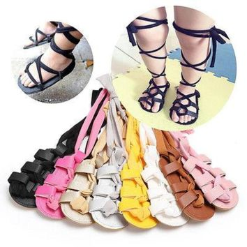 18569112e11147 Fashion Leather Boho Summer Toddler Leather Sandals