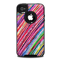 The Abstract Color Strokes Skin for the iPhone 4-4s OtterBox Commuter Case
