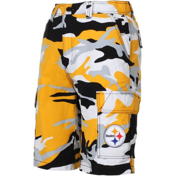 super popular 824e7 e3a62 Pittsburgh Steelers Tailgate Camo Shorts - Black/Gold