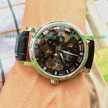Steampunk Watch,Mechanical watch,Men Wrist Watch  WN02