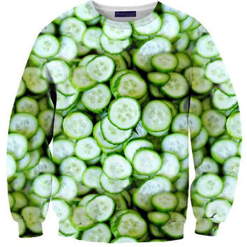 Cucumber Sweater | Shelfies - Outrageous Sweaters