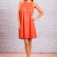 Lovely Lace Dress, Orange