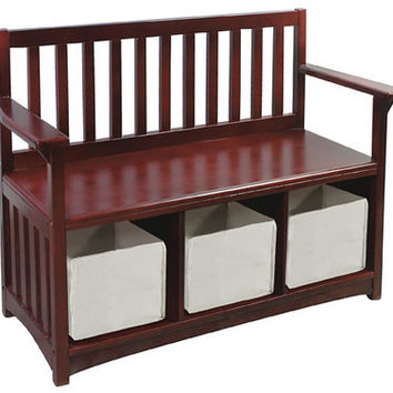 Guidecraft Classic Espresso Storage Bench - G86208