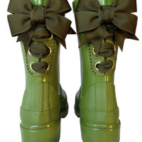 Olive Timber & Tamber French Bow Boot