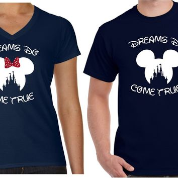 Matching Couple Shirts Dreams Do Come True | Our T Shirt Shack