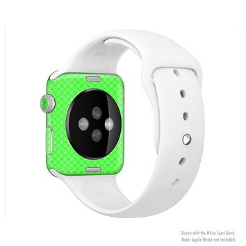 The Subtle Green Paw Prints Full-Body Skin Set for the Apple Watch