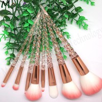 Unicorn Makeup Brushes Make up pincel maquiagem Powder Cosmetic Eye Shadow Highlighter Glitter Diamond Blusher set kit Rose gold