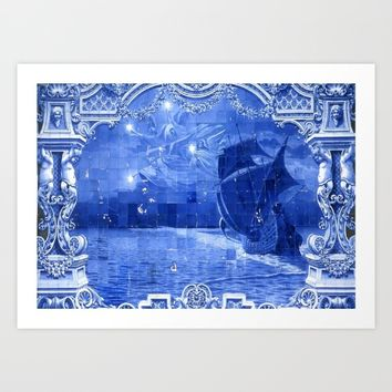 Portugal Azulejo Tile Art Print by Tony Silveira