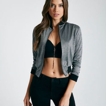 Shine Metallic Bomber Jacket | Wet Seal