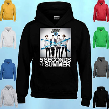 5 Seconds of Summer New ALBUM Logo HOODIE 5sos clothing