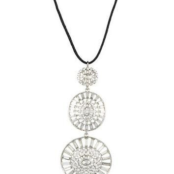 Lauren Ralph Lauren Hubcap Drop Pendant Necklace