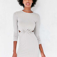 Silence + Noise Knot-Front Long-Sleeve Mini Dress - Urban Outfitters