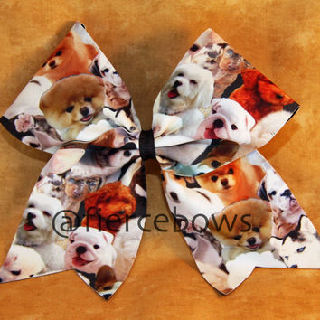 Puppy Love Cheer Bow