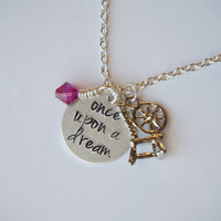 Disney's Sleeping Beauty Inspired Necklace. Once Upon a Dream