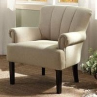 Homelegance Langdale Upholstered Accent Chair in Oatmeal-Colored Fabric