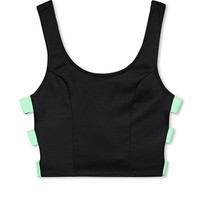 Electric Cutout Crop Top