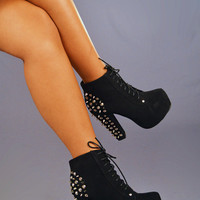 Rebel Without A Cause Booties: Black | Hope's