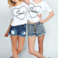 Darcy Soul Sister Twin Pack Crop Tee