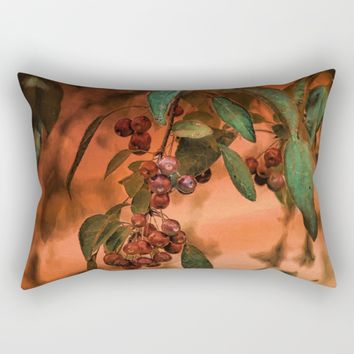 Red Berry Tree at Sunset Rectangular Pillow by Theresa Campbell D'August Art
