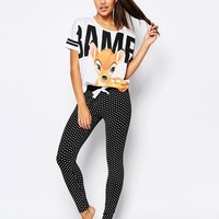 Missimo Disney Bambi Pyjama Set at asos.com