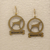 3577 Mountain Cur  Earrings by gclasergraphics on Etsy