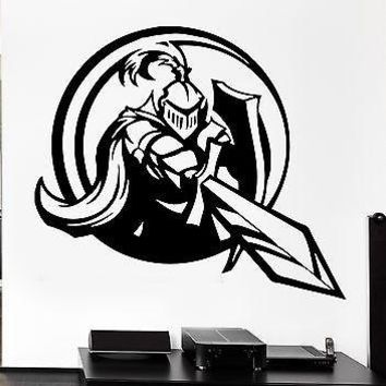 Wall Decal Knight Sword Shield Armor Medieval Weapons Vinyl Decal Unique Gift (ed302)