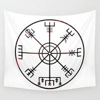 Vegvísir Wall Tapestry by mailboxdisco