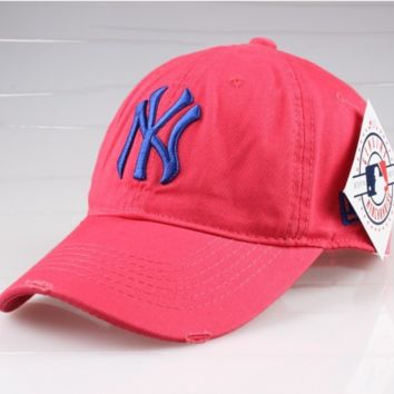 Rose Red Sports NY Cotton Baseball cotton cap