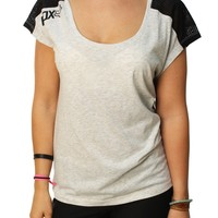 Fox Racing Women's Wildstorm Short Sleeve Mesh Back Scoop Neck Shirt