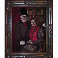 Halloween Decorations Haunted Paintings Couple Large
