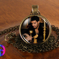 Drake 2 Music Artist Handmade Necklace Antique Jewelry Glass Photo Pendant Gift