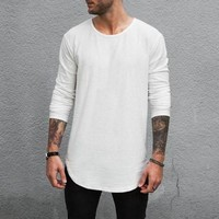 Scooped Long Sleeve x Off White