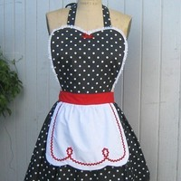 I LOVE LUCY  RETRO red with black polka dot by loverdoversclothing