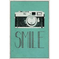 Smile Retro Camera Poster 13 x 19in