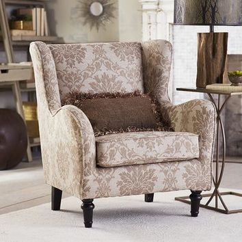 Claudio Wing Chair - Joli Ivory