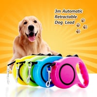 3M 5M One-handed Lock Retractable Dog Leash Automatic Extending Pet Walking Leads  For Small Medium Dogs