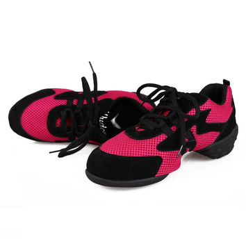 Quality Rose Mesh Jazz Dance Shoes Dance Sneakers Fittness Outdoor Free Shipping
