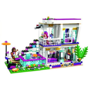 619PCS Bela 10498 Girl Friends Livi's Pop Star House Building blocks compatible bricks  41135 Gift Toys For Kids