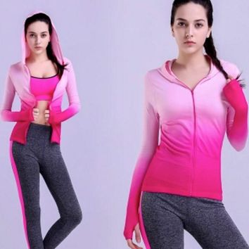 Running Sports Jackets for Women Spring Fall Autumn Winter Warm Up Windproof Coats Long Sleeve Jacket Fitness Outerwear Gym Top