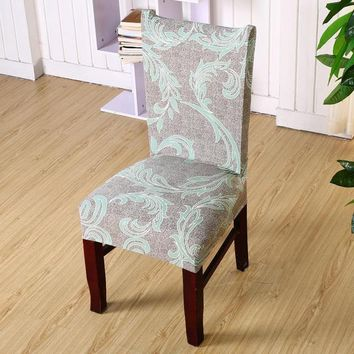 Flower Printing Removable Chair Covers Stretch Elastic Slipcovers Restaurant For Weddings Banquet Folding Hotel Chair Covering