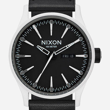 Nixon X Star Wars Stormtrooper Sentry Leather Watch Black One Size For Men 26632710001