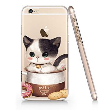 Cute Cat Slim Iphone 6 6s Case, Clear Iphone Hard Cover Case For Apple Iphone 6 6s Emerishop (NPT127.6sl)
