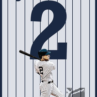 Derek Jeter 2 New York Yankees MLB Poster- 8x10, 13x19, poster, art, wall decor, home decor, beisball
