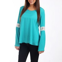 The Bella Blouse, Turquoise