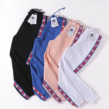 Champion Woman Men Fashion Drawstring Pants Trousers
