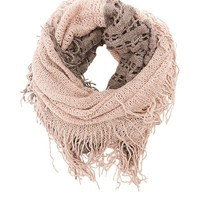 Chunky Open Knit Infinity Scarf